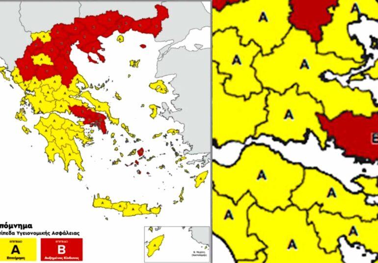 Fokida COVID19 map χάρτης